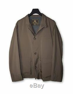 Loro Piana Brown Coach Jacket with Cashmere Lining XL