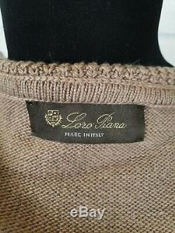 Loro Piana Cashmere Knitted Sweaters Pants Set Womens Size M Medium Color Camel