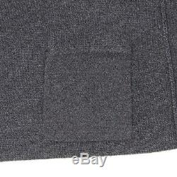Loro Piana Cashmere Mens Cardigan Sweater 52/42 Gray Melange Button Front Italy