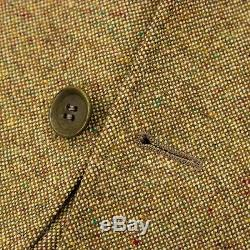 Loro Piana Cordoba Gold Cashmere Hopsack Flecked Suede Accent 3/2 Jacket 40R