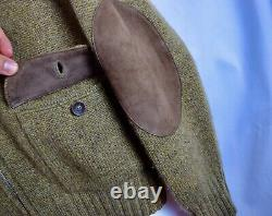 Loro Piana Full Zip Cardigan Suede Beige Thick 100% Cashmere Sweater Large L