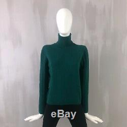 Loro Piana Ladies Pure CASHMERE Knit Roll Neck Jumper Sweater Pullover Size 42 S