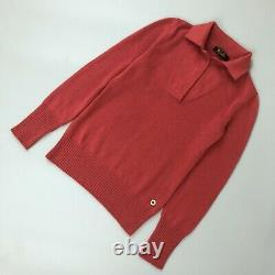 Loro Piana Ladies Red BABY CASHMERE Knit Top Jumper Sweater Pullover Size XS 38