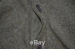 Loro Piana Made in Italy 100% Baby Cashmere Leather Trim Cardigan Sweater