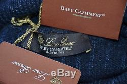 Loro Piana Made in Italy 100% Baby Cashmere Turtleneck Cable Sweater 58 XXXL