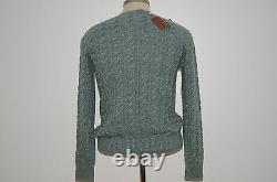 Loro Piana Made in Italy Baby Cashmere Silk Blend Crewneck Cable Sweater 46 S