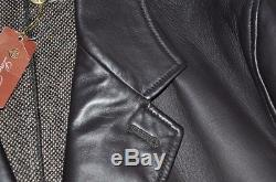 Loro Piana Made in Italy Cashmere Lined Leather Jacket Coat L 54