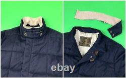 Loro Piana Mens 100% Cashmere Storm System Insulated Quilted Coat Jacket size XL