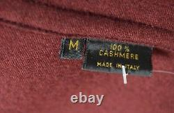 Loro Piana Mens Red 100% Cashmere Dressing Gown Robe Solid Men's Medium 50