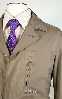 Loro Piana Sz M Cashmere Lined Field Travel Jacket Taupe