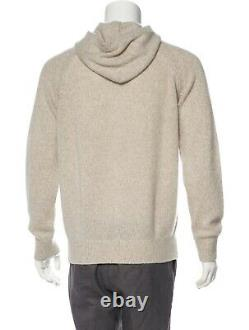 Loro Piana Tapio Melange baby cashmere hooded sweater L 52
