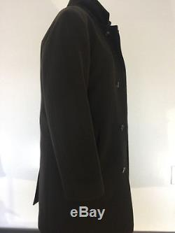Loro Piana Taupe Storm System 3/4 Length Cashmere Coat Small