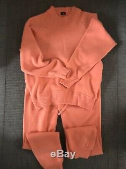 Loro Piana Tracksuit Set 100%cashmere In Salmon For Size S-M