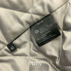 Loro Piana Women Cashmere Storm System Bomber Icer Quilted Jacket Coat Size S 42