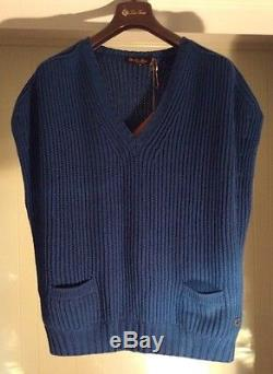 Loro Piana cashmere Ladies Sleeveless Ribbed Knit Sweater Medium