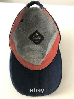 Loro Piana man baby cashmere baseball cap. Size L in royal blue. Pre-owned