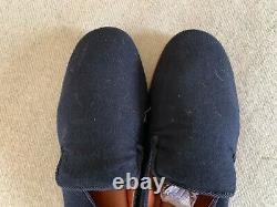 MEN'S LORO PIANA CASHMERE With LEATHER HOUSE SLIPPERS SHOES 9-10