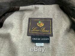 MEN'S LORO PIANA SUEDE With 100% CASHMERE COAT SIZE XL