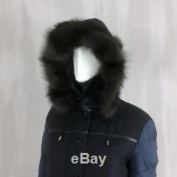NEW Loro Piana Ladies FISHER FUR CASHMERE Quilted Puffer Down Jacket Coat S 40