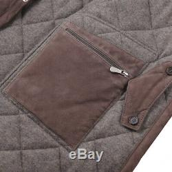 NWT $3995 MANDELLI Quilted Suede Parka with Loro Piana Cashmere Lining S (Eu 48)