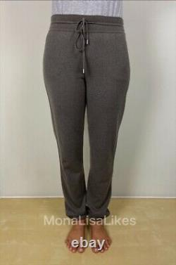 New LORO PIANA 100% Baby Cashmere Knitted Track Pants Sz 40 S / M