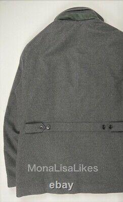 New LORO PIANA 100% Baby Cashmere Winter Voyager Coat Jacket Storm System XL