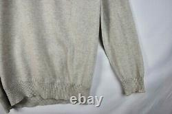 New LORO PIANA Cashmere Silk Gray Solid Hoodie Full Zip Sweater XL Extra-Large