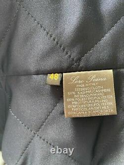 New Loro Piana 100% Cashmere Quilted Jacket Coat Vest Suede Leather Trim