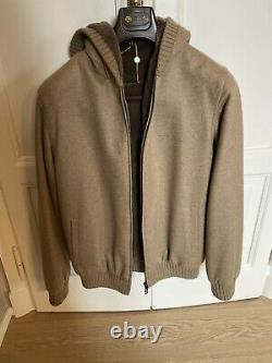 New Loropiana Hooded Bomber Cashmere Jacket ($9500 Retail Price)