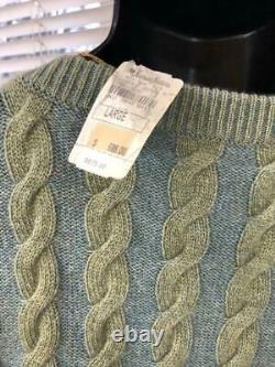 Nwt $875 Loro Piana 100% Cashmere Cable Knit Mens Sweater Size Large Sw300