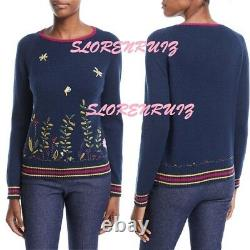 Nwt Loro Piana Baby Cashmere Flower Meadow Embroidered Sweater Pullover It38 $3k