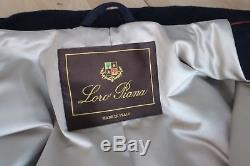 Pristine LORO PIANA Storm System 100% Cashmere Coat Size M Navy Blue RRP 6.250$
