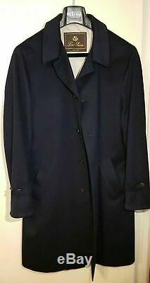 Stunning Navy Loro Piana Cashmere Coat 52 (42) Mantel 3.600 Like New