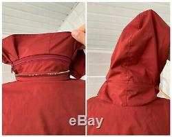 Women's Loro Piana Traveller Nylon Cashmere Multipocket Burgundy Jacket Sz 44